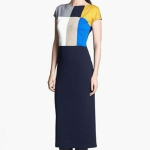 St. John Colorblock Milano Knit Dress size 6